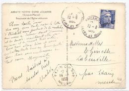 France Carte Jouarre Seine Et Marne Arrivée Obl Exagonale Etain CP N° 8 Meuse - Marcophilie (Lettres)