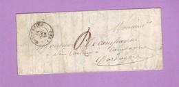Dordogne MOULEYDIER CàD 15  Lettre De 1848 Pour Le Bugue Taxe Manuscrite 2 Décimes - 1801-1848: Voorlopers XIX