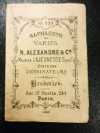 ABECEDAIRE BRODERIE POINT DE CROIX ALEXANDRE MAURICE LAJEUNESSE PARIS MONOGRAMME DEPLIANT COUTURE MODE LAINE EMBROIDERY - Cross Stitch