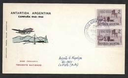 Argentine Base Aerienne Teniente Matienzo Antarctique 1966 Argentina Antartic Aerial Base - Polar Flights