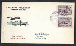 Argentine Base Aerienne Teniente Matienzo Antarctique 1966 Argentina Antartic Aerial Base - Vols Polaires