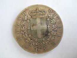 ITALIE - 5 LIRE 1874 - 5 Lires Victorio Emmanuel II Argent - 1861-1946 : Regno