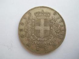 ITALIE - 5 LIRE 1872 - 5 Lires Victorio Emmanuel II Argent - 1861-1946 : Regno