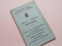 Kaart Van EENZELVIGHEID / Carte D'IDENTITé ( ALVERINGHEM N° 612 Derudder Steenkerke 12/9/1867 ) Anno 1920 VELDWACHTER ! - Non Classés
