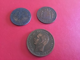 Lot De 3 Pièces Voir Le Scan - Coins & Banknotes