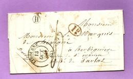 Gironde LIBOURNE  CàD 13  Lettre De 1841 Pour  St Cyprien Taxe Manuscrite 4 Décimes + 1 D + B R- H De Lussac ( 2 Scans ) - 1801-1848: Voorlopers XIX
