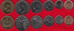 Samoa Set Of 6 Coins: 2 Sene - 1 Tala 2000-2002 UNC - Samoa