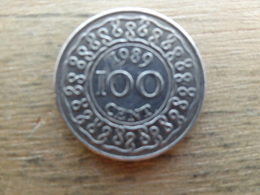 Suriname  100 Cents  1989  Km 23 - Suriname 1975 - ...
