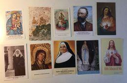 Lotto 10 Santini - Santino - Holy Card - Images Religieuses