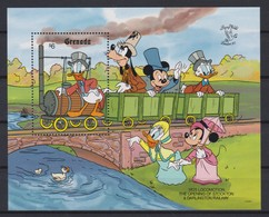 "2238  Walt Disney - GRENADA  ( Stamp Worlt ""London '90"" ) Locomotives Et Personnages De Disney . - Disney"