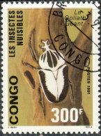 Congo 1991. ~ YT 910 - Insecte Nuisible. Goliath Géant - Oblitérés