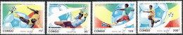"""Congo 1993. ~ YT 966/69 - """"San Francisco'94"""". Coupe Monde Football - Congo - Brazzaville"""