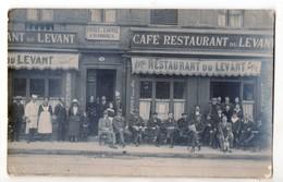 """Carte-photo - Hotel Café Restaurant Du LEVANT - Midi De La France - """" La Dépeche Du Midi """" - Cafés"""