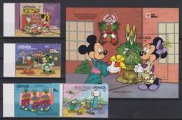 "2241  Walt Disney - Grenada  ( "" Phila Nippon'91"" )  Mickey Presents Minnie The Tradtional Gifts And Decorations . - Disney"