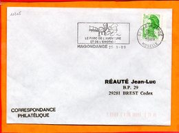 MOSELLE, Hagondange, Flamme SCOTEM N° 10305, Le Parc De L'aventure Et De L'émotion - Marcophilie (Lettres)