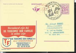Publibel Obl. N° 2562 + P 014  ( Assurances Famille  TF)  Obl. Bxl :  08/12/73  Jeux De Cartes - Publibels