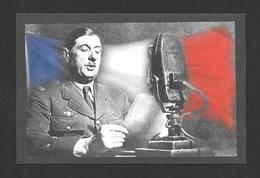 POLITIQUE - LE GÉNÉRAL CHARLES DE GAULLE  APPEL AU RASSEMBLEMENT - Personnages