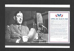 POLITIQUE - GÉNÉRAL CHARLES DE GAULLE - APPEL DU 18 JUIN 1940 - Personnages