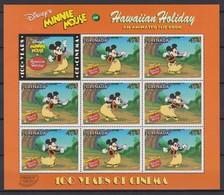 "2244  Walt Disney - GRENADA  ( ""Pacific'97"") San Francisco Centenary Of Cinema ""Vacation In Hawaii For Minnie"" . - Disney"