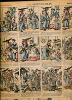 PLANCHE IMAGERIE PELLERIN IMAGE D' EPINAL 19 ° S  N° 509 - La Saint Nicolas   T39 X 30 Cm - Animaux