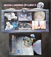Guyana 2006** Mi.klb.7839/44 + Bl.802. Moon Landing Of Luna 9 MNH [13;38,47] - Space
