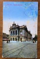 ANVERS THEATRE FLAMAND  IL TEATRO CARTOLINA POSTE RESTANTE A PETRALIA SOTTANA 28/1/1914 - Belgio