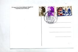 Carte Cachet Mulhouse Marcophilex  Vue Messager - Postmark Collection (Covers)