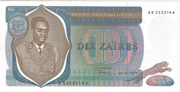 Congo 10 Zaires 30-06-1971 Falso UNC - Democratic Republic Of The Congo & Zaire