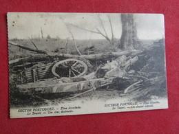Secteur Portugais -Zone Dévastée.Le Touret -Un Obusier Détruit - Sector Português - Zona Devastada - Guerre 1914-18