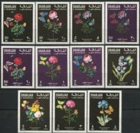 SHARJAH 1967 Flowers Butterflies Fauna MNH - Sharjah