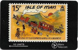 Isle Of Man - Stamps - IOM Express - 6IOMA - 1990, 15.000ex, Used - Isla De Man