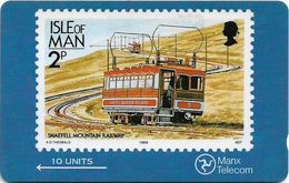 Isle Of Man - Stamps - Snaefell Mountain Railway - 4IOMA - 1989, 8.253ex, Used - Isle Of Man