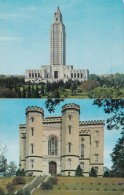 Louisiana Baton Rouge The Old And New State Capitol Buildings 1960 - Baton Rouge