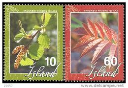 Island Islande 1083/84 Sorbier , Noisetier - Bäume