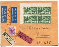 1922 - Flug Basel-St. Gallen Mit ABART Stark Verschobener Unterdruck - Abarten