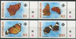 SEYCHELLES 1987 Butterflies Insects Fauna MNH - Seychelles (1976-...)