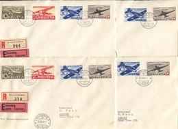 1923 - Alle 12 Etappenflüge ZÜRICH-LAUSANNE- BERN-GENÈVE Und Zurück - Poste Aérienne