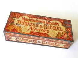 """""""DUCASSE & GUIBAL"""" Manufacture De Biscuits, Nantes. Boite (vide) Métal Lithographié. - Boîtes"""