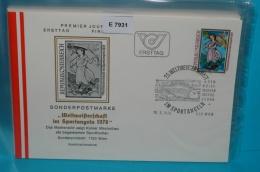 FDC-E7931 25. WM Sportangeln, Angeln, Kaiser Maximilian, SSt Fisch, Wien AT 1978 - FDC