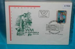 FDC-E7935 25. WM Sportangeln, Angeln, Kaiser Maximilian, SSt Fisch, Wien AT 1978 - FDC