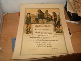 Gesellen Brief Diploma 1922 Big Format - Diplomi E Pagelle