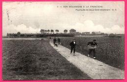 Nos Douaniers à La Frontière - Poursuite De Deux Contrebandiers - Militaire - Chien - Animée - E. C. - 1910 - Polizei - Gendarmerie