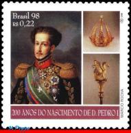 Ref. BR-2692 BRAZIL 1998 HISTORY, DOM PEDRO I, KING BRAZIL, & PORTUGAL, CROWN, CEDAR, MI# 2906, MNH 1V Sc# 2692 - Familles Royales