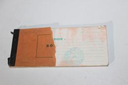 Carnet à Souche De L'ALN Wilaya 1 Zone 5 2ème Région Années 50 - Documents
