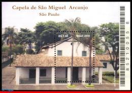 Ref. BR-2917 BRAZIL 2004 CHURCHES, SAINT MICHAEL ARCHANGEL, CHAPEL, RELIGION, MI# B126, S/S MNH 1V Sc# 2917 - Brazil