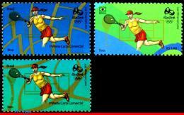 Ref. BR-OLYM-E21 BRAZIL 2015 SPORTS, OLYMPIC GAMES, RIO 2016,, TENNIS, STAMPS OF 3RD & 4TH SHEET, MNH 3V - Tennis