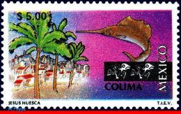 Ref. MX-1976 MEXICO 1998 CITIES, TOURISM COLIMA,, FISH, TREES, (5.00P), MNH 1V Sc# 1976 - Poissons