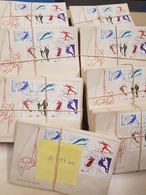 LOT #32-4 SPORT FDC ROMANIA First Day 1961 Mountain Sports Ski Climbing 714 Sets - Timbres