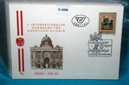 FDC-G4298 7. Kongress Anästesiologie, Alraune, Medizin, SSt. 1150 Wien, AT 1986 - FDC