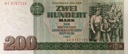 DDR/East Germany, 200 Mark Ro.364a (1985) - Kassenfrisch (UNC) - 200 Mark